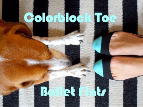 Colorblock Toe Ballet Flats