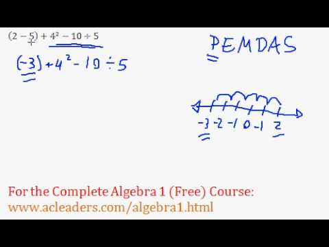 Order of Operations - Worked Example #9 (Basic Algebra Review)