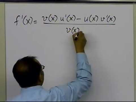 Quotient Rule of Differentiation: Example