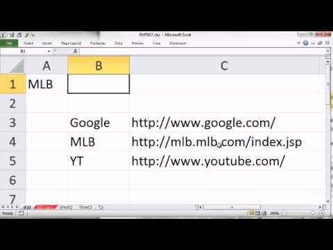 Excel Magic Trick 937: HYPERLINK VLOOKUP: Create Drop Down That Selects Web Address Link