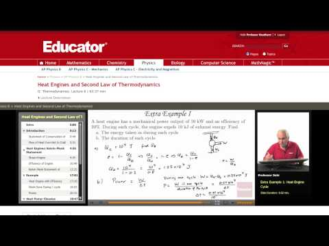 Physics: Heat Engine (Second Law of Thermodynamics)