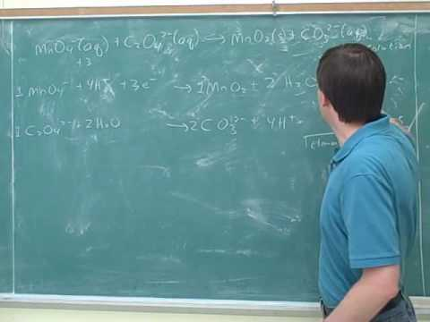 Chemistry: Balancing redox reactions (9)