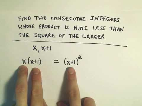 Word Problem: Finding Consecutive Numbers That Satisfy a Given Requirement - Ex 3