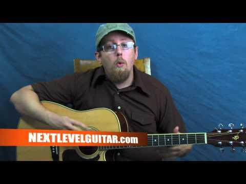 How to play folk acoustic guitar Simon & Garfunkel inspired 1960s Mrs. Robinson style lesson