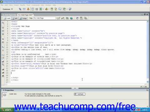 HTML Tutorial Headings Training Lesson 5.1