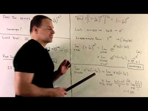 Root Test for Series Sum  (1-1/n^2)^{n^3}