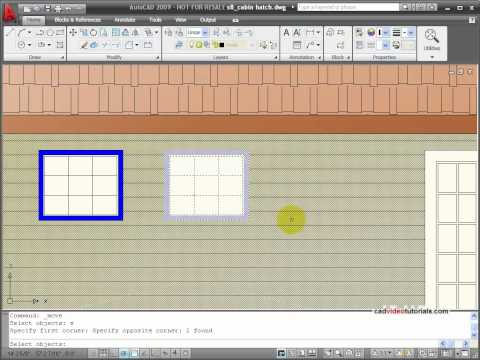 AutoCAD Tutorial -  Editing Hatch and Fill