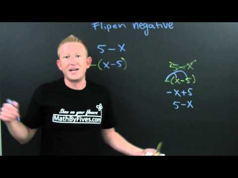 Flippin Negative and Factoring Out Negative
