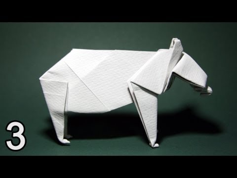 Origami Bear by John Montroll (Folding Instructions) ~Part Three~