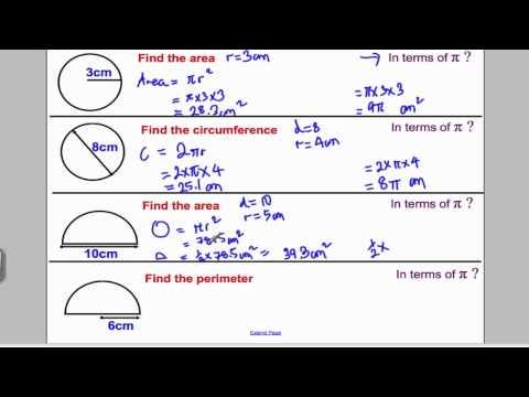 Circles 1 (GCSE Higher Maths): Tutorial 7