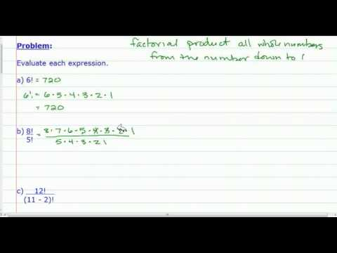 Expressions Containing Factorials