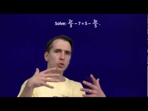 Art of Problem Solving: Linear Equations with Fractions Part 1