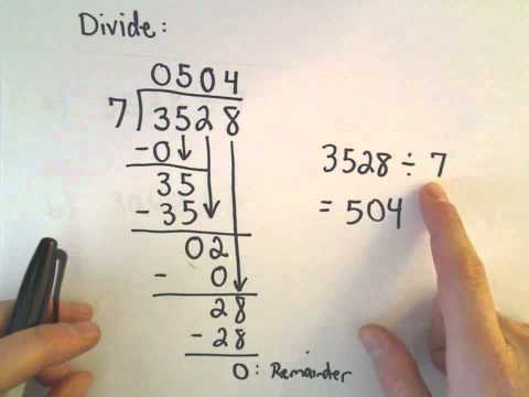 Long Division of Numbers - Arithmetic Basics, Ex 2