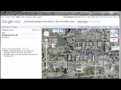 Part 1: Google Maps: How to draw line/shape and use placemarks