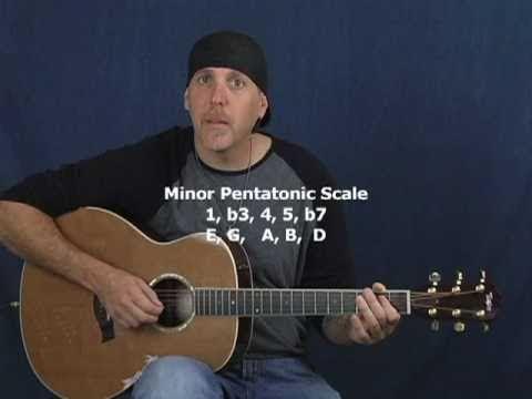 Learn Acoustic Blues lead solo guitar open pentatonic scale lesson