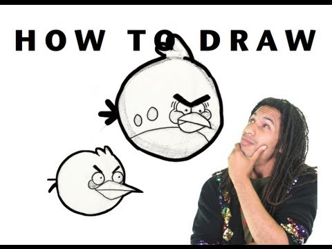 How to Draw the Red Bird From Angry Birds