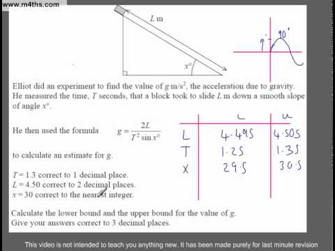 (Q228) A Star GCSE Revision Questions Upper and lower Bounds