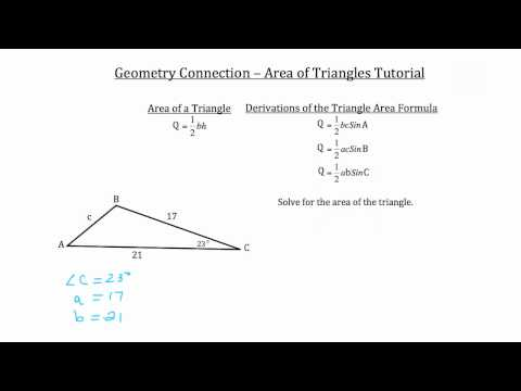 Area of Triangles- Geometry Connection