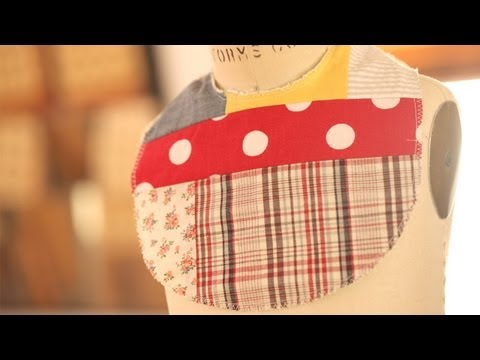 Crazy Patchwork Bib: How to Make || KIN DIY