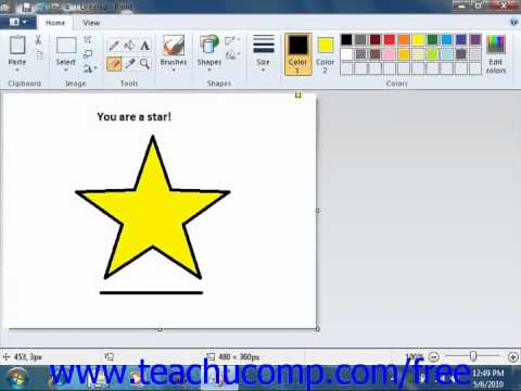 Windows 7 Tutorial Erasing Parts of a Picture Microsoft Training Lesson 5.4