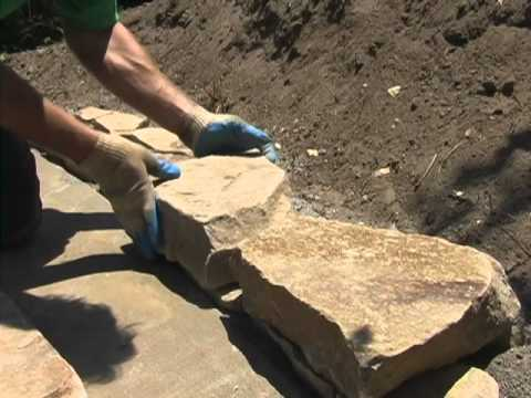 How to Build Stacked Flagstone Walls