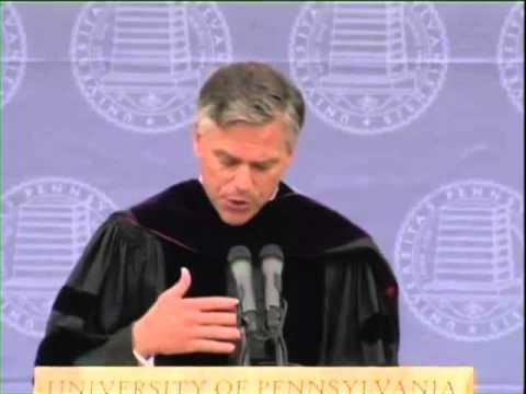 Jon Huntsman at the University of Pennsylvania 2010 Commencement Address - Part 1