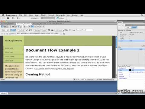 CSS tutorial: Exploring document flow | lynda.com tutorial