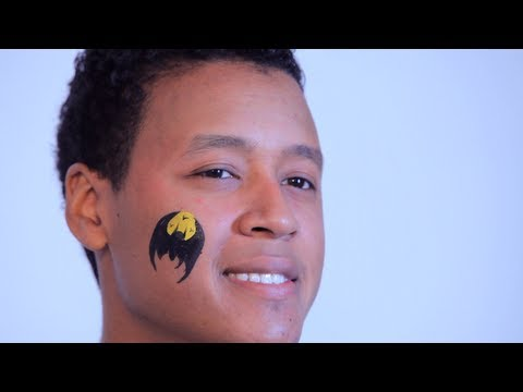 How to Do Face Painting: Cheek Batman