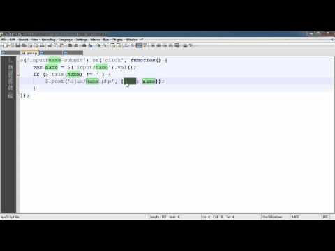 PHP Tutorials: jQuery: Get Data from MySQL Database without Refreshing