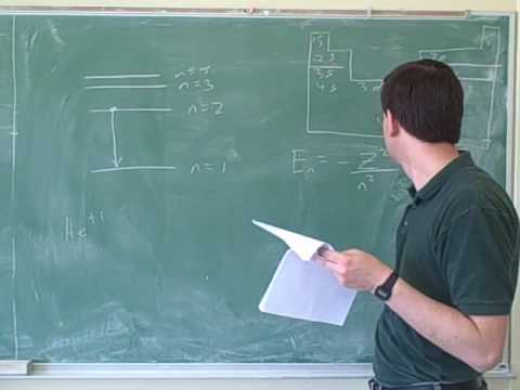 Chemistry: Bohr model problems (3)