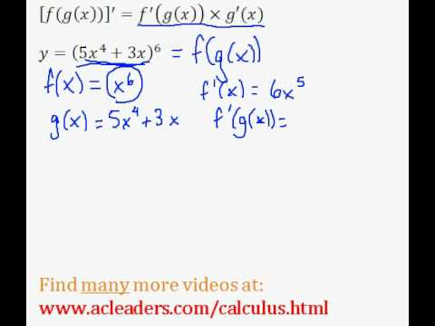 Calculus - CHAIN RULE - Simple Example (pt.3)