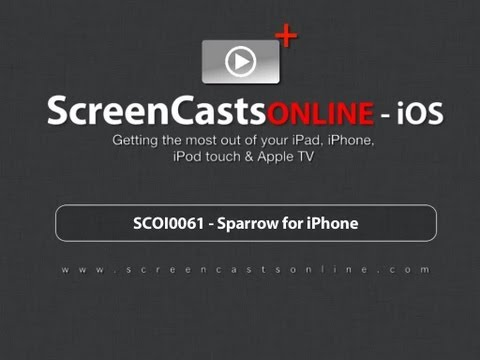 Trailer for SCOI0061 - Sparrow for iPhone