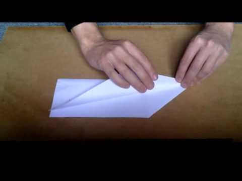 How to fold a paper plane.