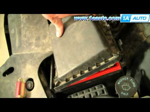 How To Install Replace Engine Air Filter Cadillac DeVille 97-99 1AAuto.com