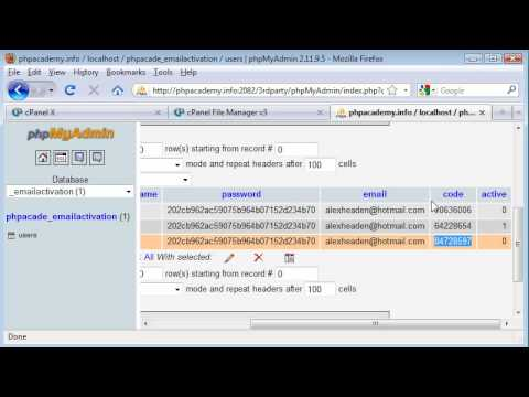 PHP Tutorials: Register & Login: Email Activation (Part 2)