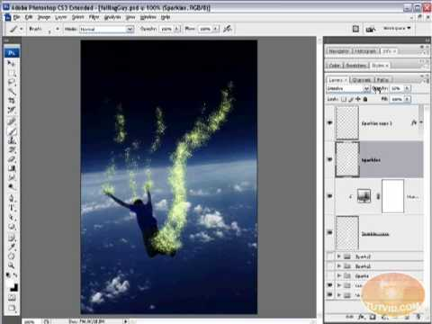 Sparkle/Magical Dust Brush: Photoshop Tutorial