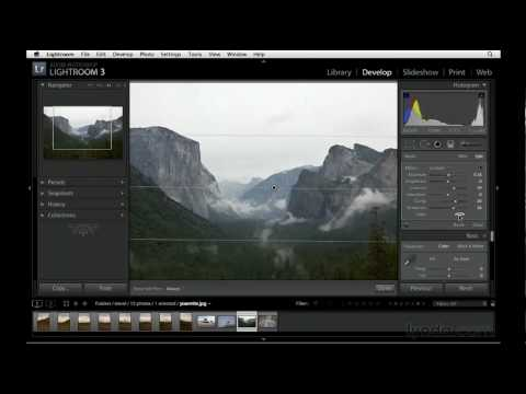 How to use the Graduated Filter in Lightroom | lynda.com tutorial