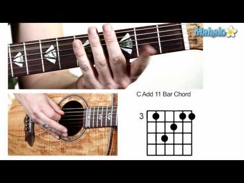 How to Play C Add 11 Bar Chord on Guitar