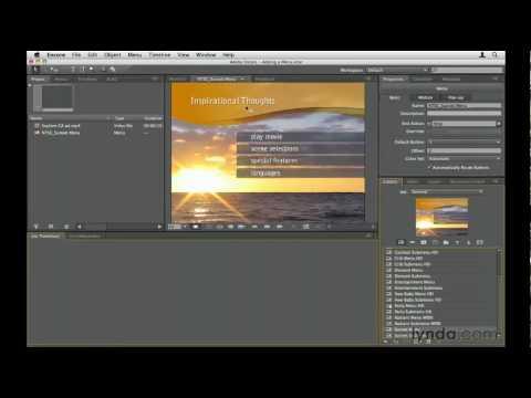 How to modify a menu in Adobe Encore   lynda.com tutorial