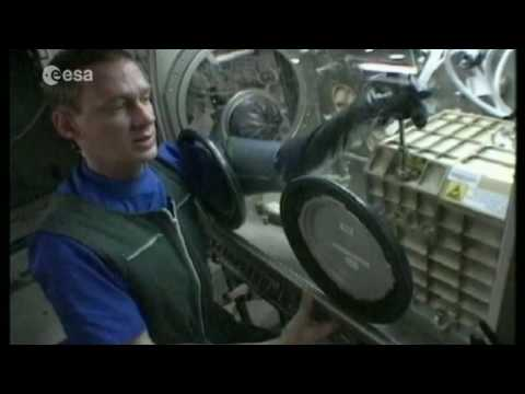 European astronauts on the International Space Station