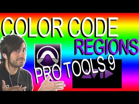 Color Code Regions - Pro Tools 9