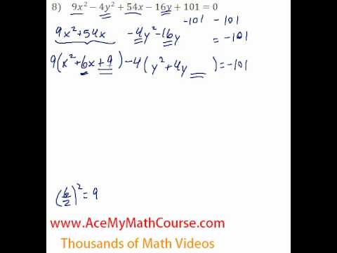 Conics - General to Standard Form #8