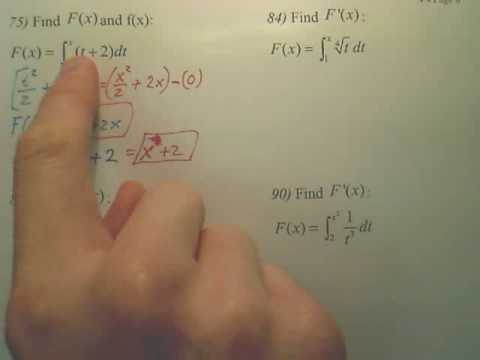 4.4f Fundamental Theorem of Calculus - Calculus