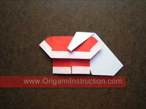 How to Fold Origami Santa with Bag - OrigamiInstruction.com