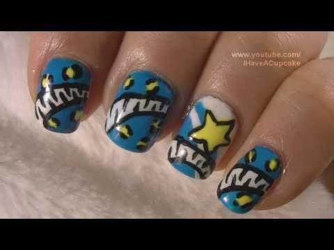 80's Inspired Nail Art Tutorial / Arte para las uñas inspirado por los 80's
