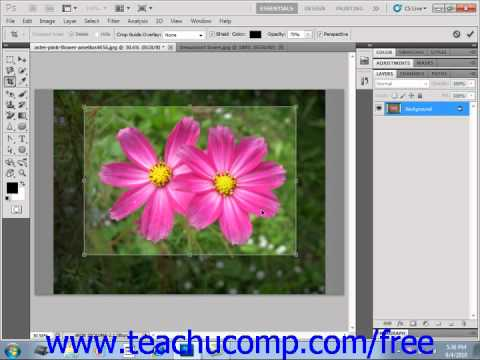 Photoshop CS5 Tutorial Cropping Images Adobe Training Lesson 14.4