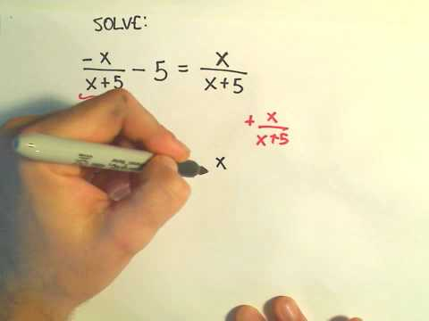 Solving a Basic Rational Equation - Ex 2