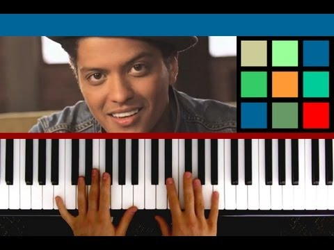 "How To Play ""The Lazy Song"" Piano Tutorial / Sheet Music (Bruno Mars)"