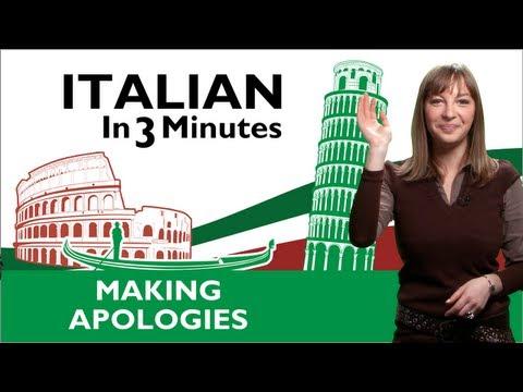 Learn Italian - Italian Apologies