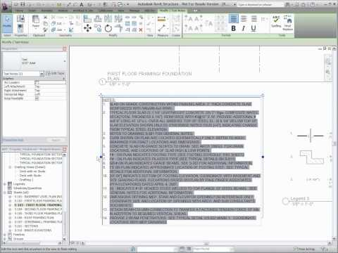 Autodesk Revit Structure 2011 - Text Enhancements